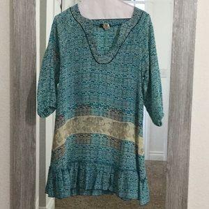 Tolani silk tunic/dress. Size XS